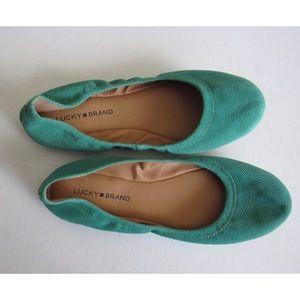 Lucky Brand - Emmie Flats - Bright Green - Sz 9.5M